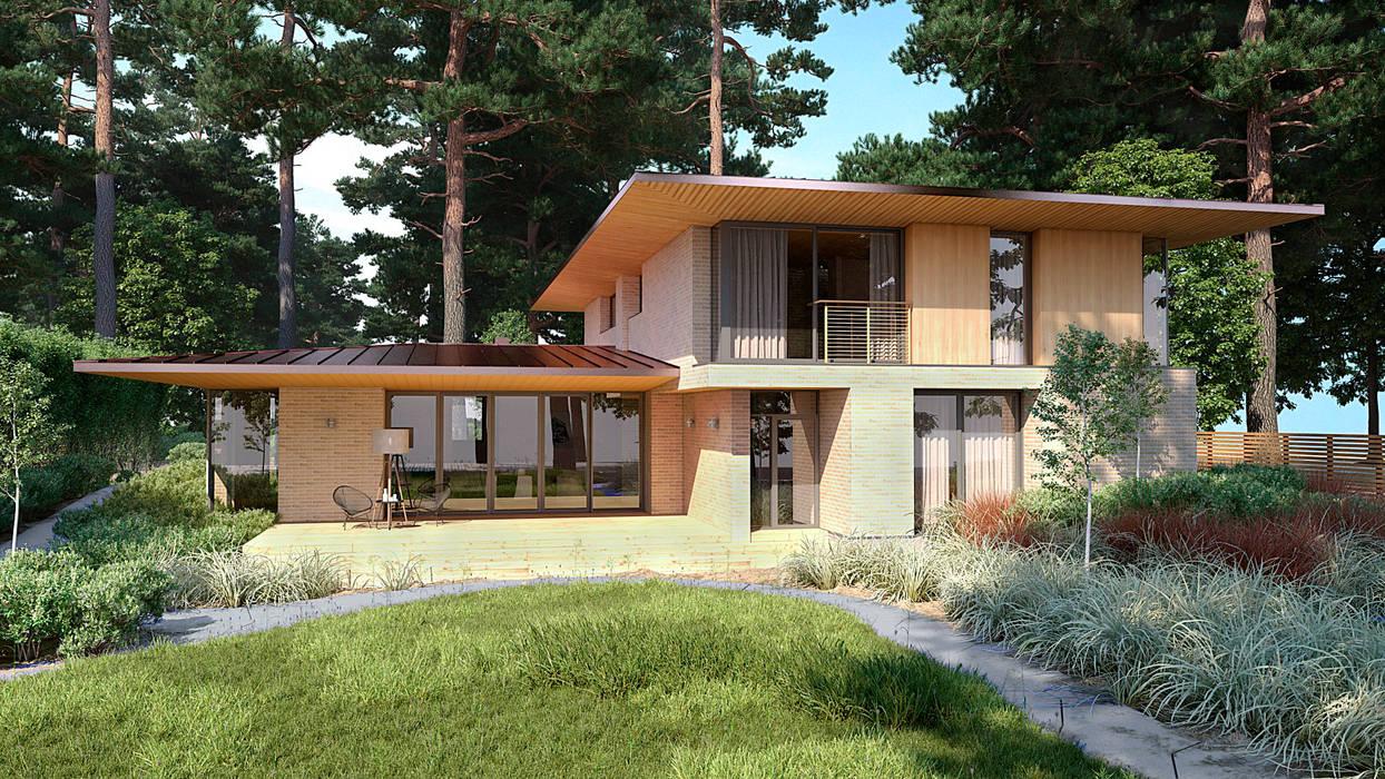 Дом в Ейске: Загородные дома в . Автор – Архитектурное бюро