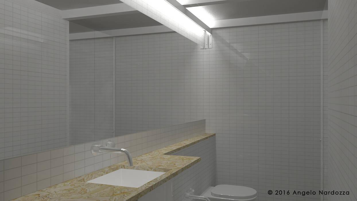 Piccolo loft low budget: bagno: Bagno in stile  di Angelo Nardozza Architetto