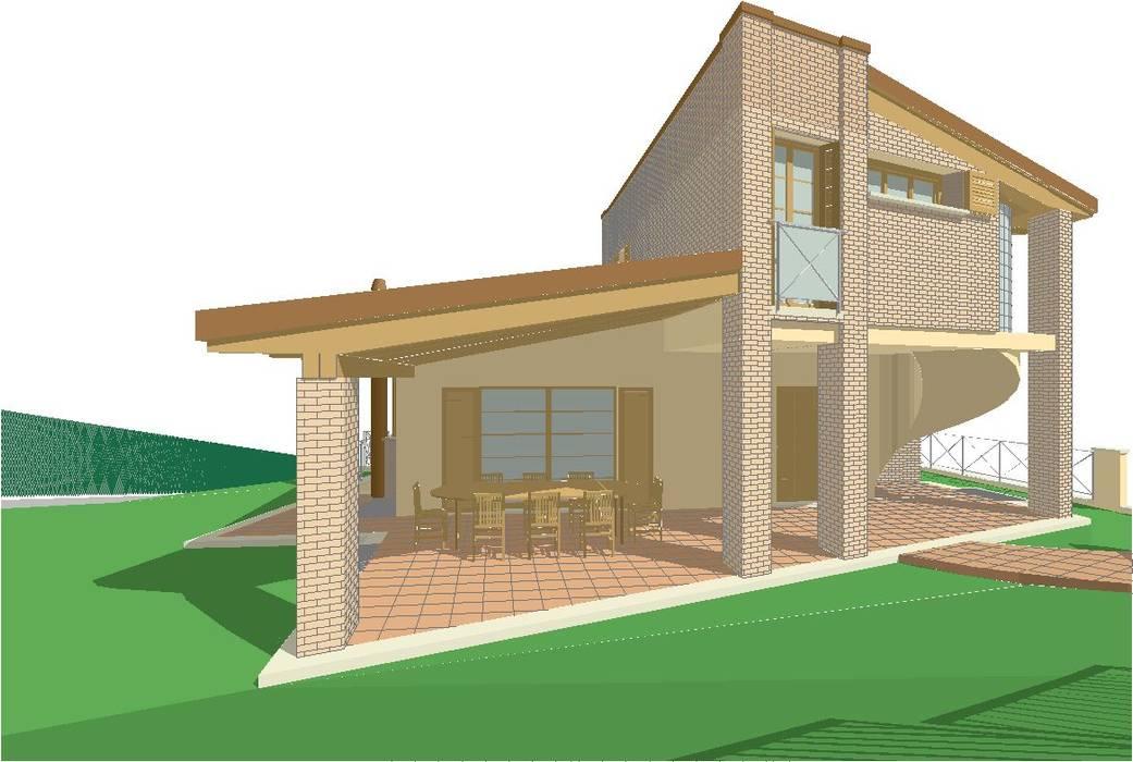 Progetto residenza a Vallefoglia (2006): Casa unifamiliare in stile  di ArchitetturaStudio