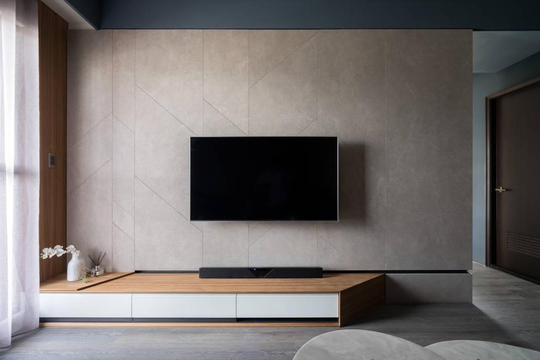 客廳電視牆:  牆面 by Moooi Design 驀翊設計, 北歐風
