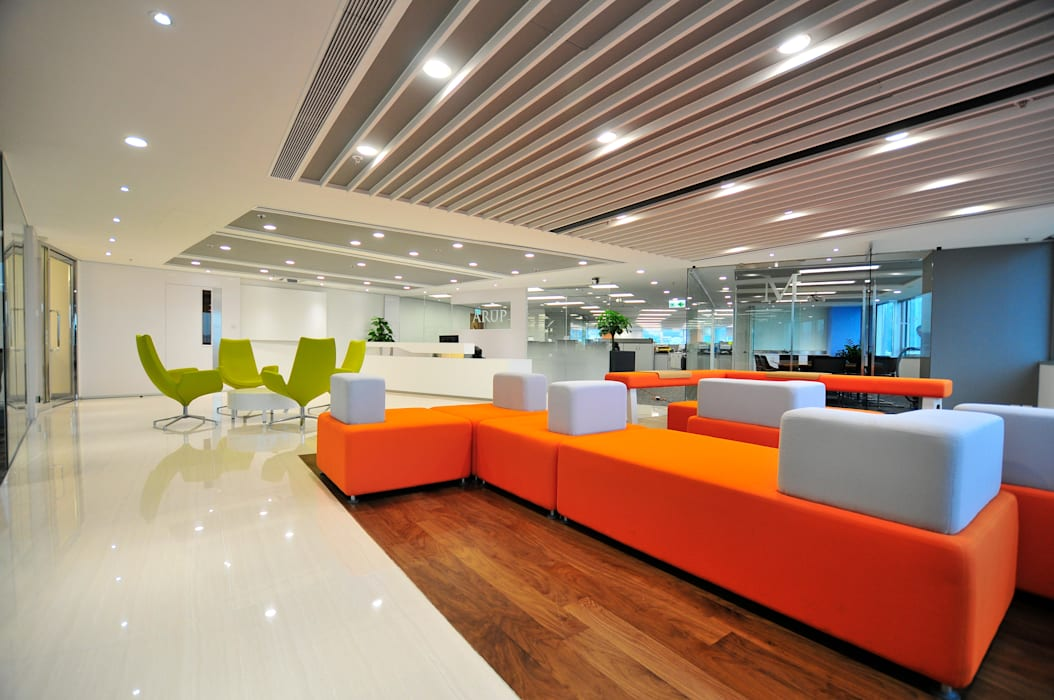 Seating Area:  Offices & stores by FINGO DESIGN & ASSOCIATES LTD.,