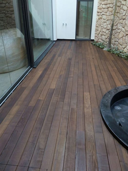 Thermoash Wood Decking by Opulo India Country Wood Wood effect