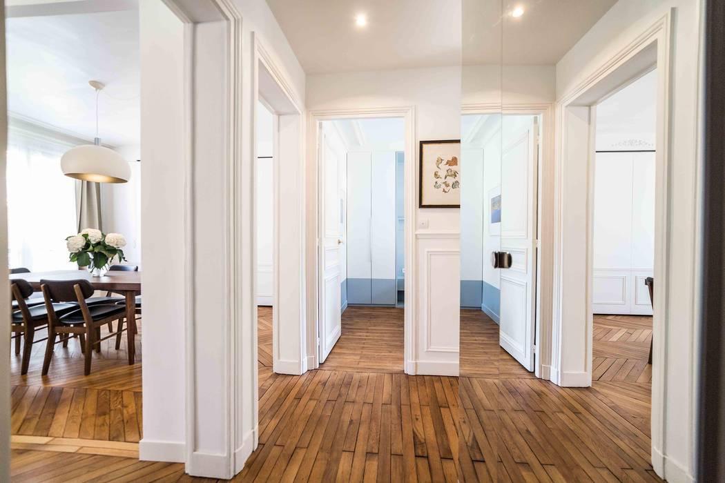 Rénovation d\'un appartement haussmannien: couloir et hall d\'entrée ...