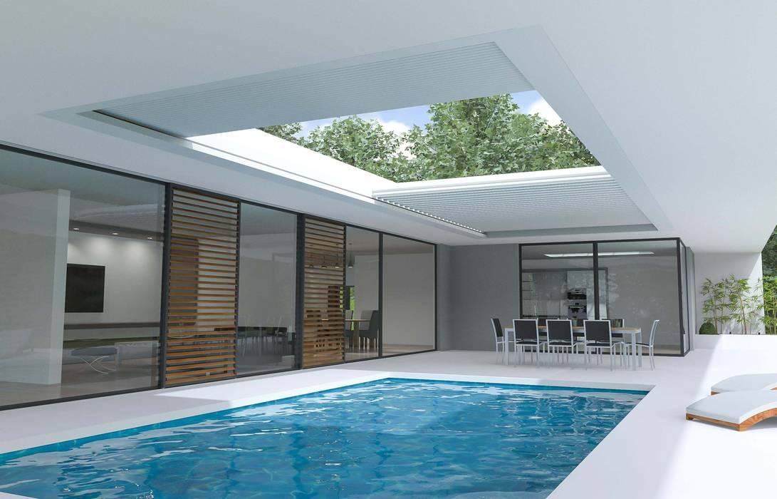 Skye Modern terrace by Atria Designs Inc. Modern