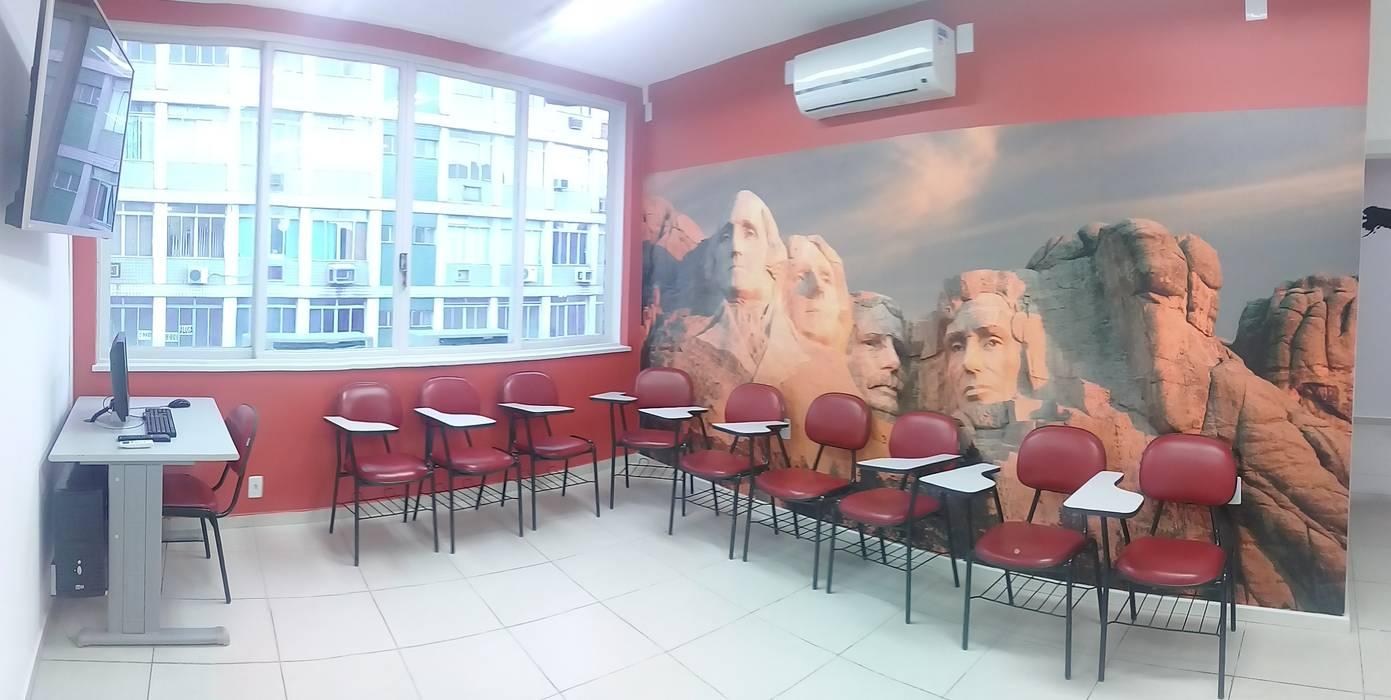 Sala de aula EUA por SV Arquitetura e Interiores Moderno