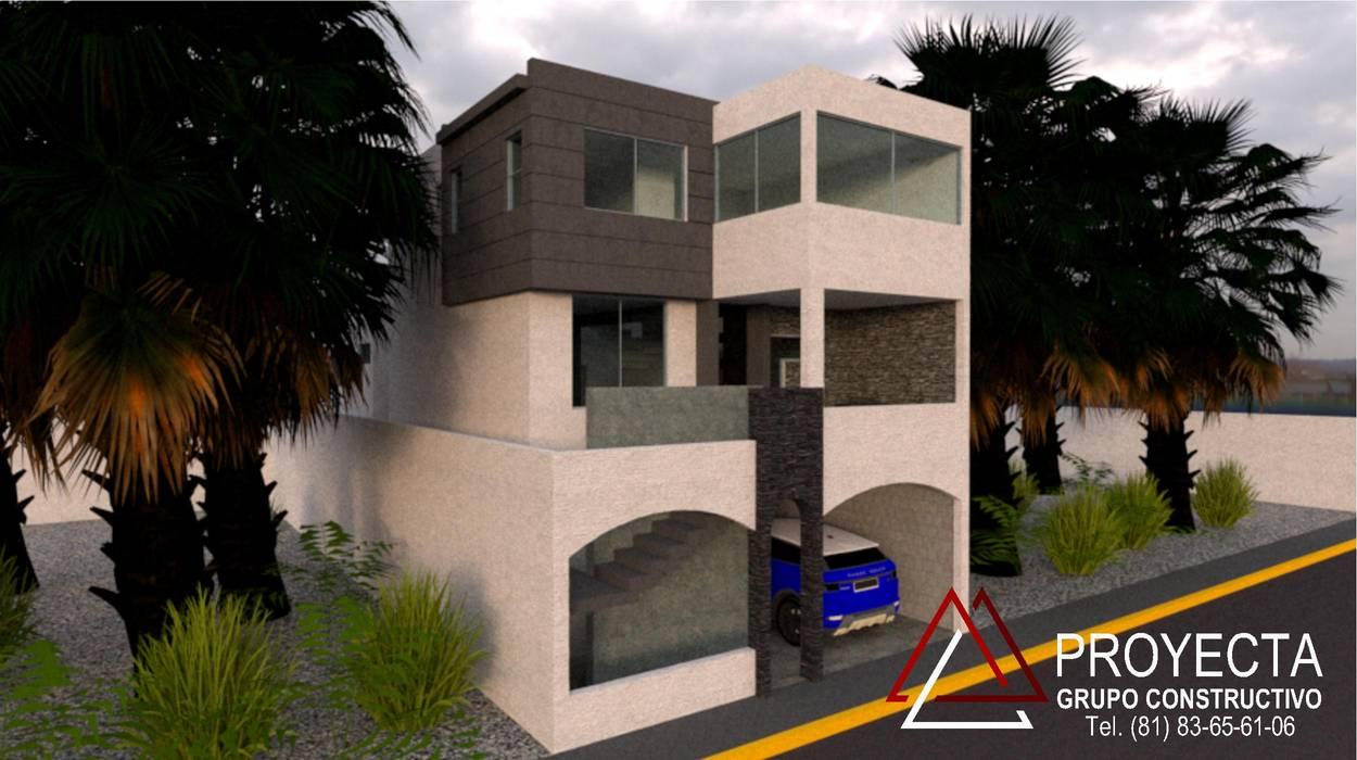 PROYECTA Grupo Constructivo บ้านและที่อยู่อาศัย คอนกรีต Grey