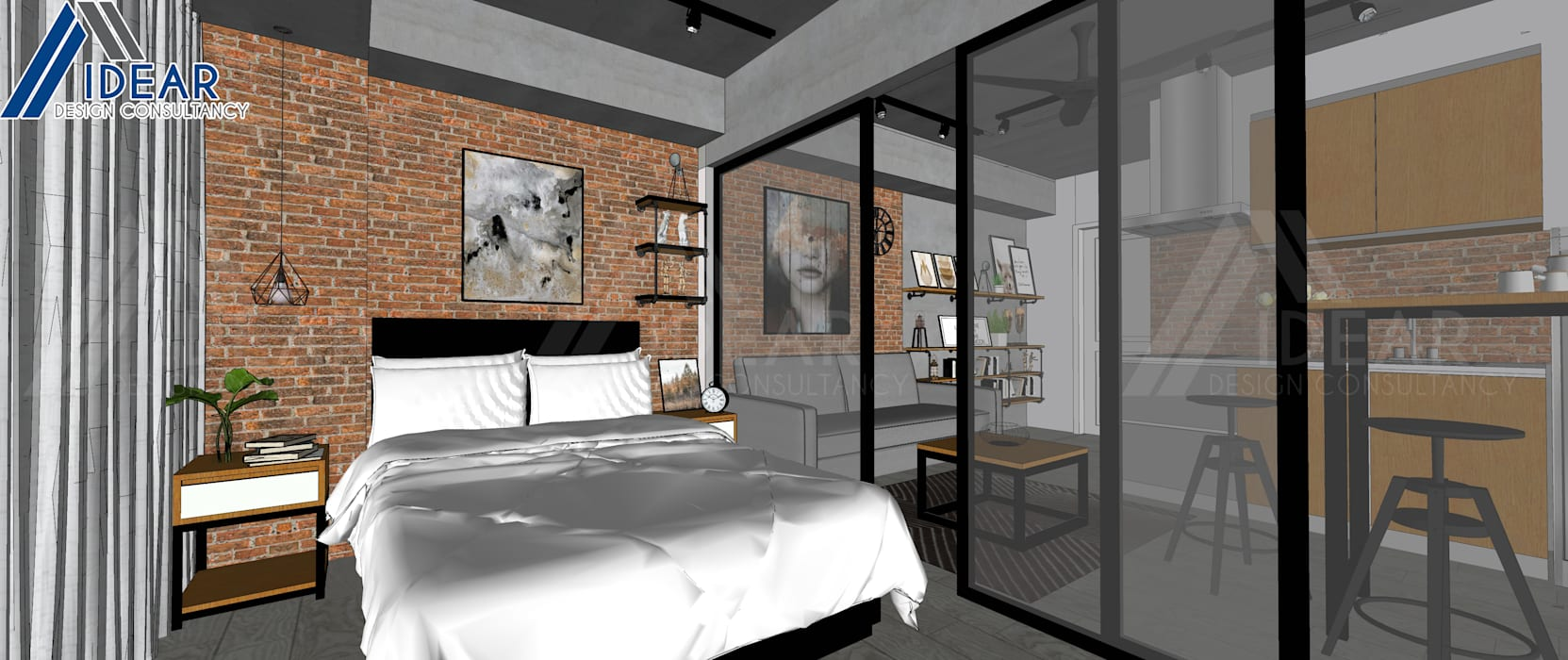 Rustic Vibe at Azure Urban Residences:  Bedroom by Idear Architectural Design Consultancy