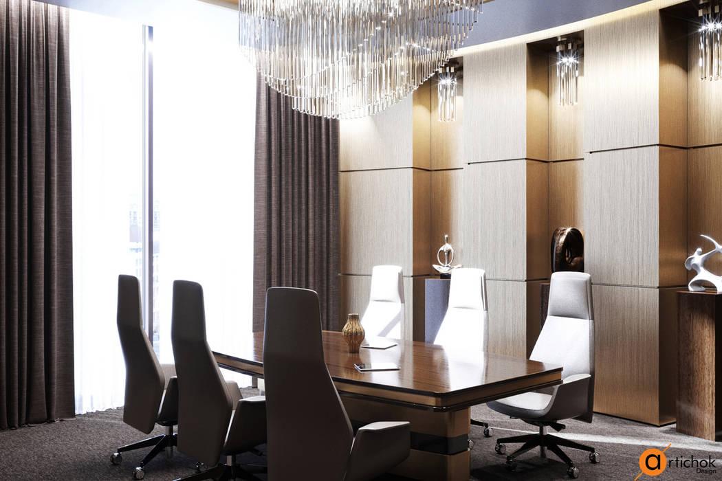 Офисы и магазины в . Автор – Art-i-Chok, Модерн Дерево Эффект древесины