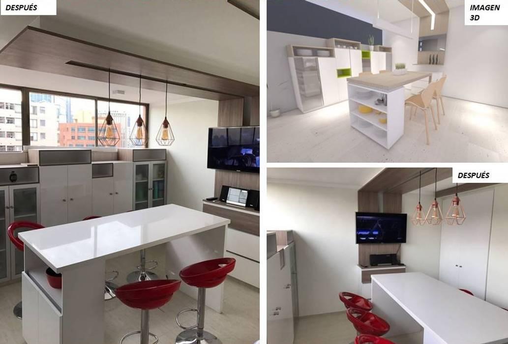 Cocina aravena-las condes: muebles de cocinas de estilo por ...
