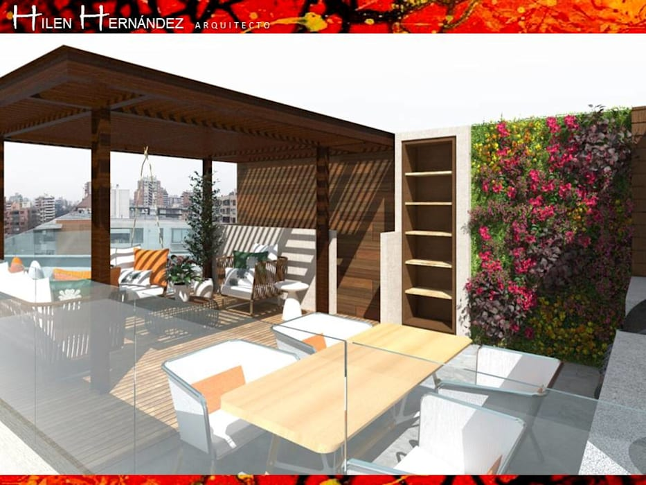 Terraza En Las Condes De Hz Arquitectos Santiago Diseño