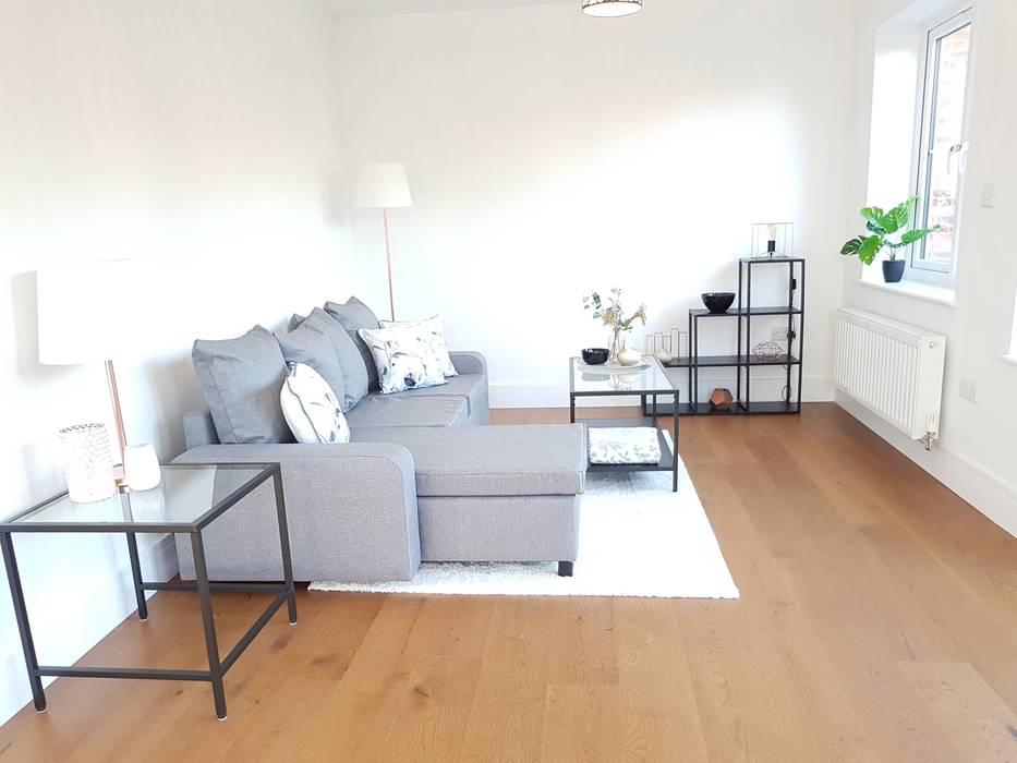 Botanical Monochrome Show Home The Fresh Interior Company Minimalist Living Room Homify