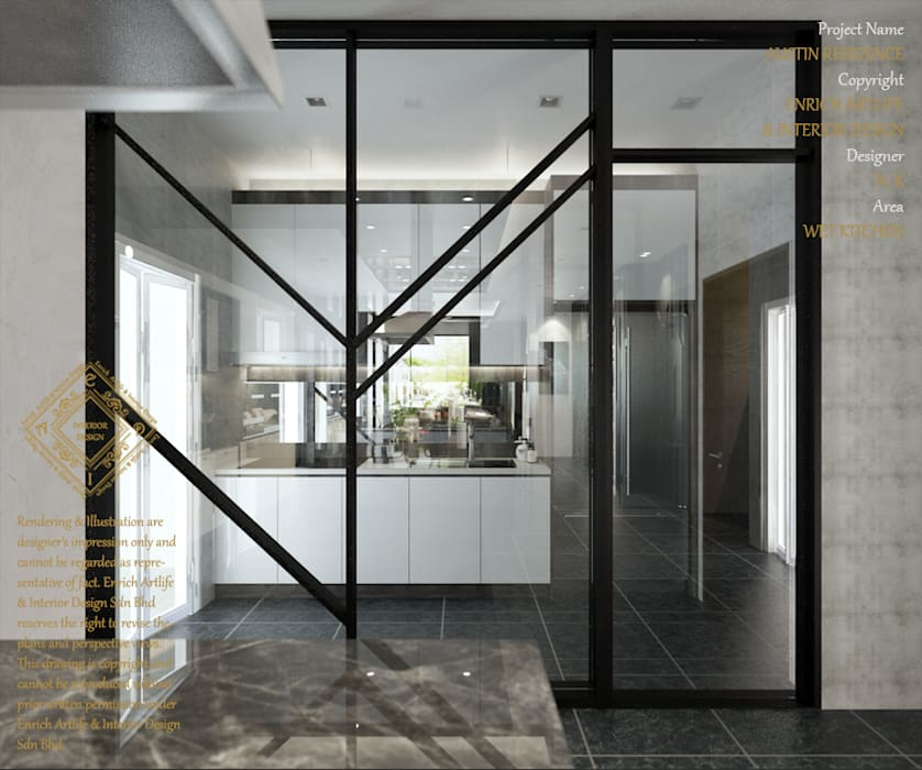 WET KITCHEN:  Kitchen by Enrich Artlife & Interior Design Sdn Bhd, Modern