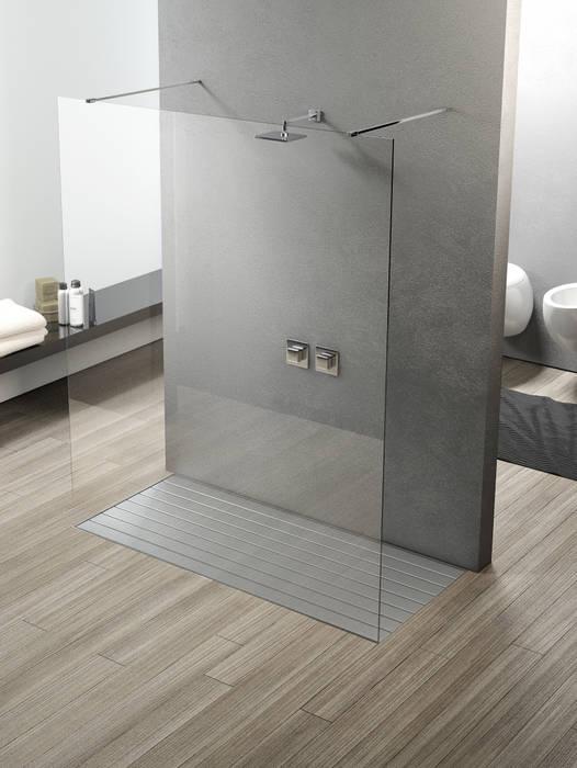 Box doccia Parete Fissa: Bagno in stile in stile Moderno di SILVERPLAT