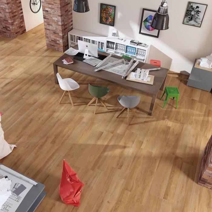 Gres porcellanato effetto parquet Ever colore Aok: Pavimento in stile  di WEBTILES CERAMICHE