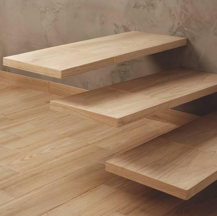 Serie Natura il gres effetto legno di piccole dimensioni: Pavimento in stile  di WEBTILES CERAMICHE