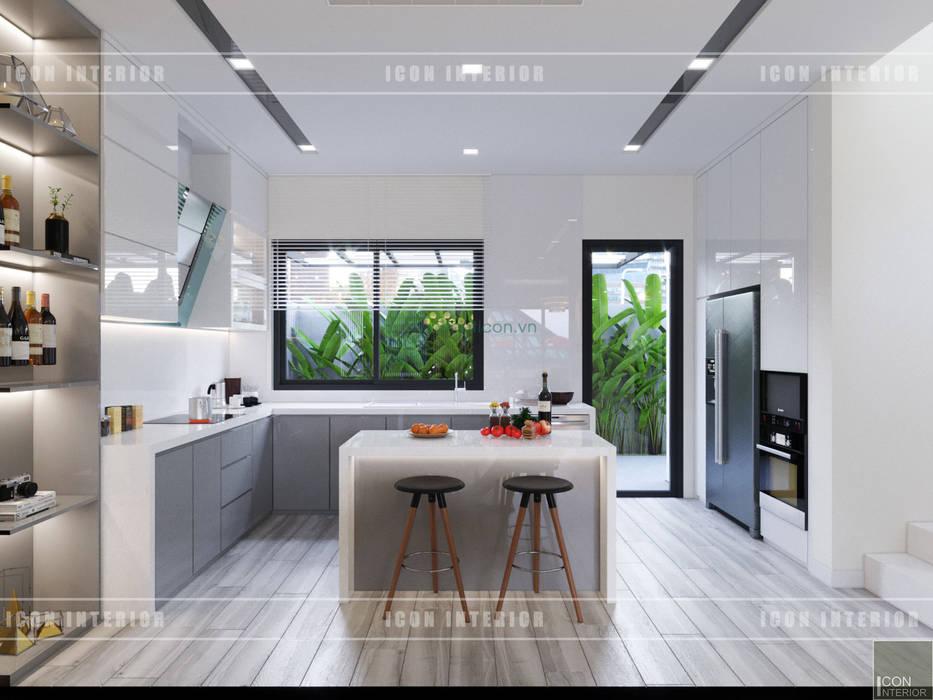 Thiết kế nội thất biệt thự Nine South - Tinh tế đến từng chi tiết nhỏ! Nhà bếp phong cách hiện đại bởi ICON INTERIOR Hiện đại