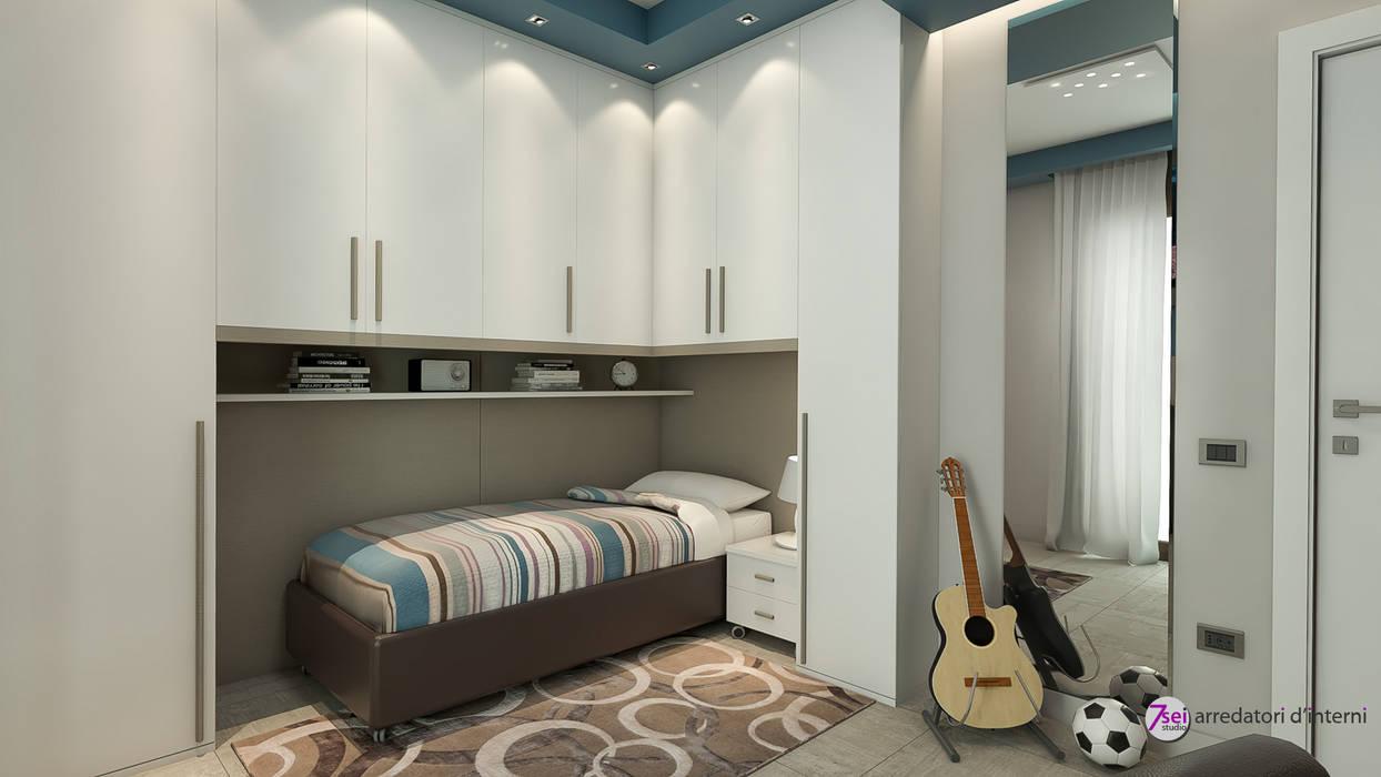 Cameretta: Camera da letto in stile in stile Moderno di Studio 7sei