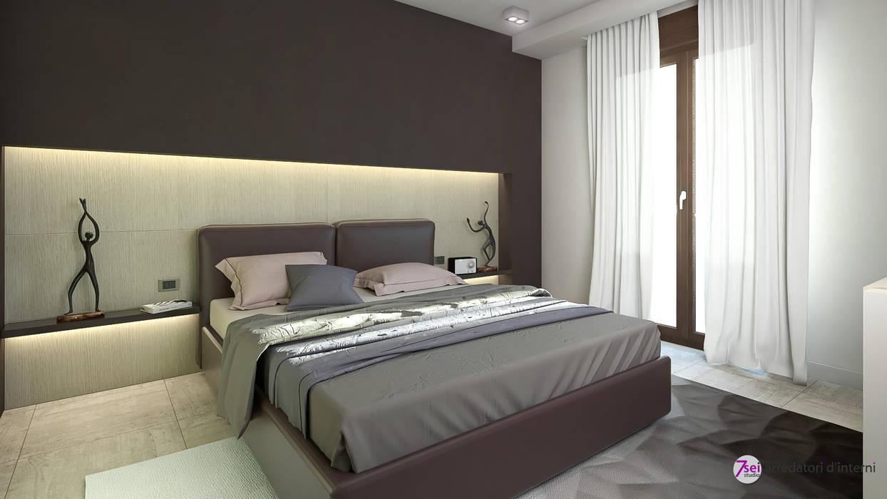Camera Matrimoniale: Camera da letto in stile in stile Moderno di Studio 7sei