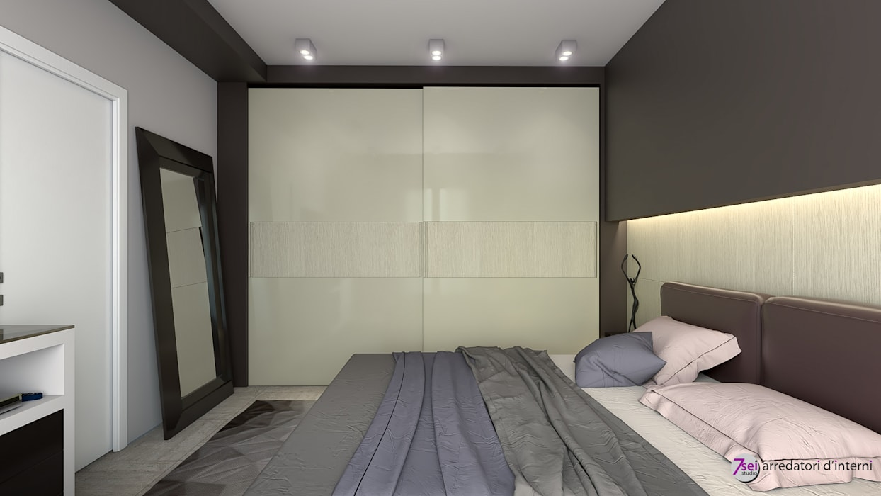 Camera Matrimoniale: Camera da letto in stile  di Studio 7sei