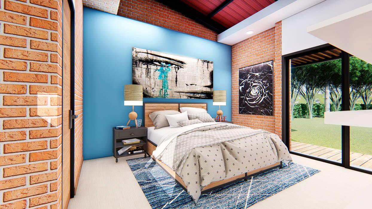 Casa Villa Real: Habitaciones de estilo  por Conceptual Studio ARQUITECTUR