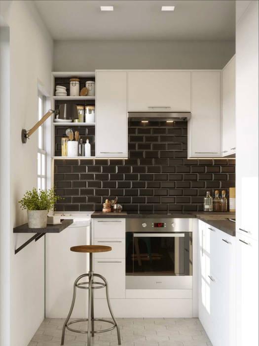 One Bedroom Appartement in Paris: Cocinas de estilo  de Isabel Gomez Interiors