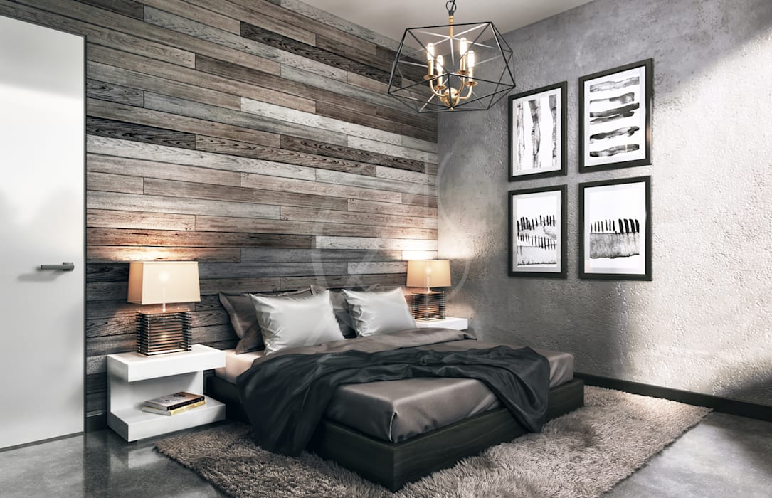 Industrial House Design:  Bedroom by Comelite Architecture, Structure and Interior Design , Industrial Concrete