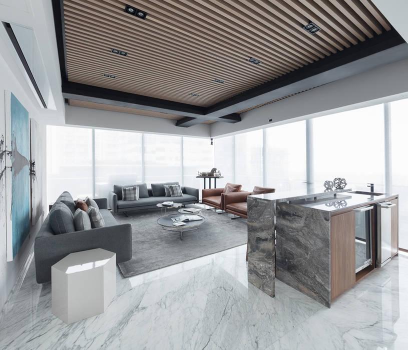 Departamento SS Ruang Keluarga Modern Oleh Concepto Taller de Arquitectura Modern