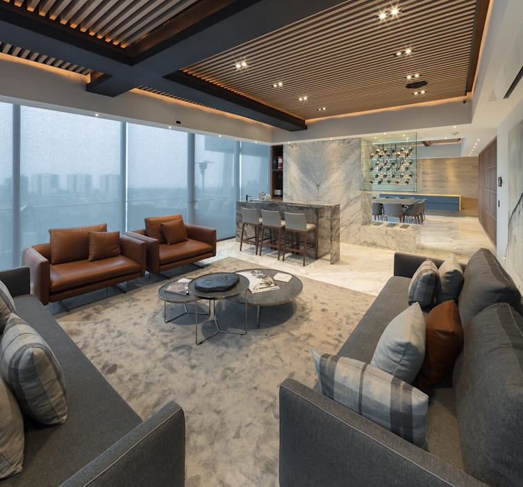 Departamento SS Salones modernos de Concepto Taller de Arquitectura Moderno