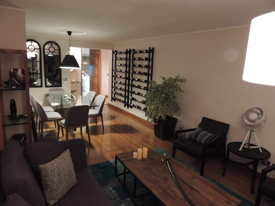 Living Comedor: Comedores de estilo  por Kaa Interior | Arquitectura de Interior | Santiago
