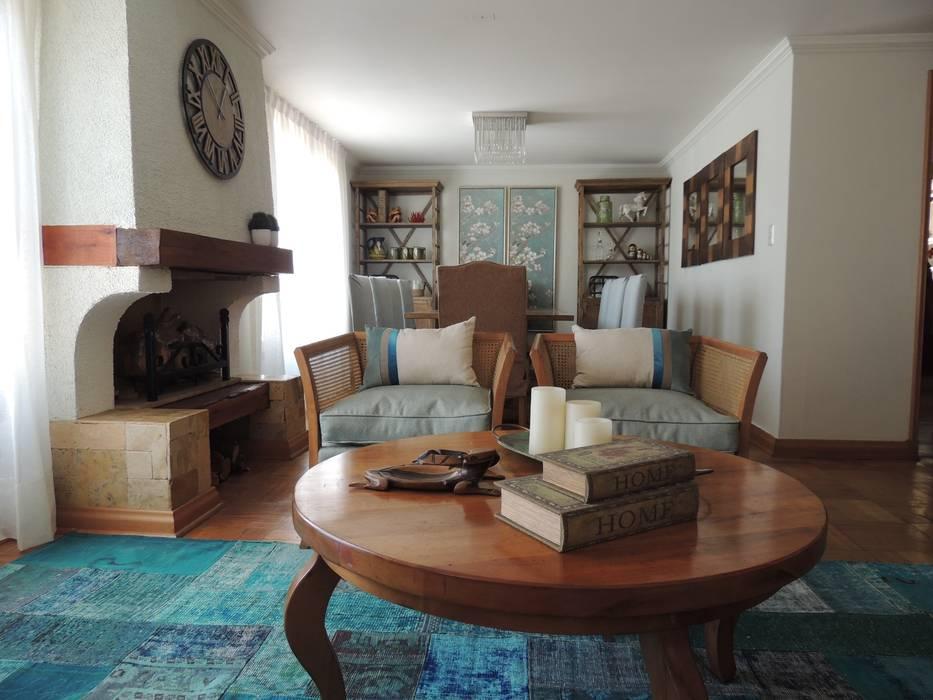 Living Kaa Interior   Arquitectura de Interior   Santiago Livings de estilo clásico Turquesa