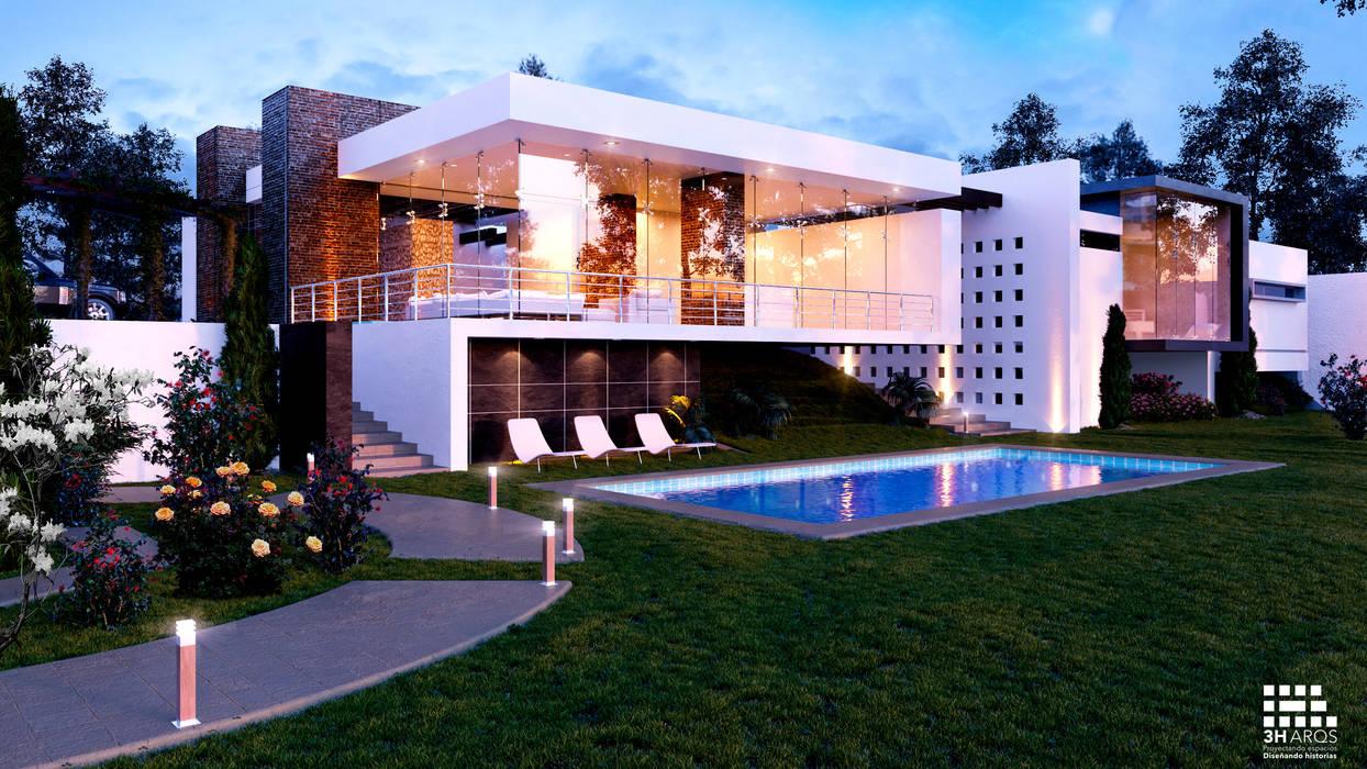Buitenzwembad door 3h arquitectos