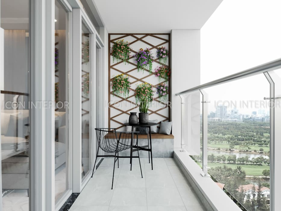 NGÔI NHÀ NUÔI DƯỠNG TÌNH YÊU - Thiết kế căn hộ ấn tượng tại Vinhomes Central Park Hành lang, sảnh & cầu thang phong cách kinh điển bởi ICON INTERIOR Kinh điển