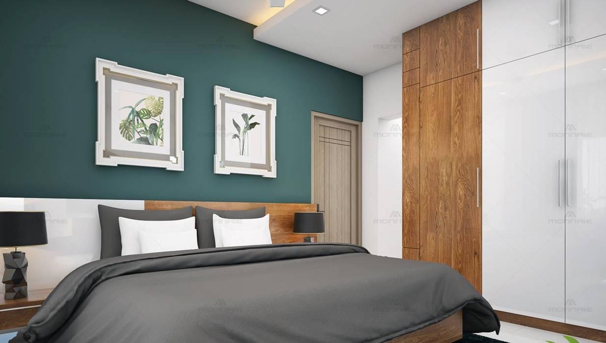 Monnaie Interiors Pvt Ltd Asian style bedroom