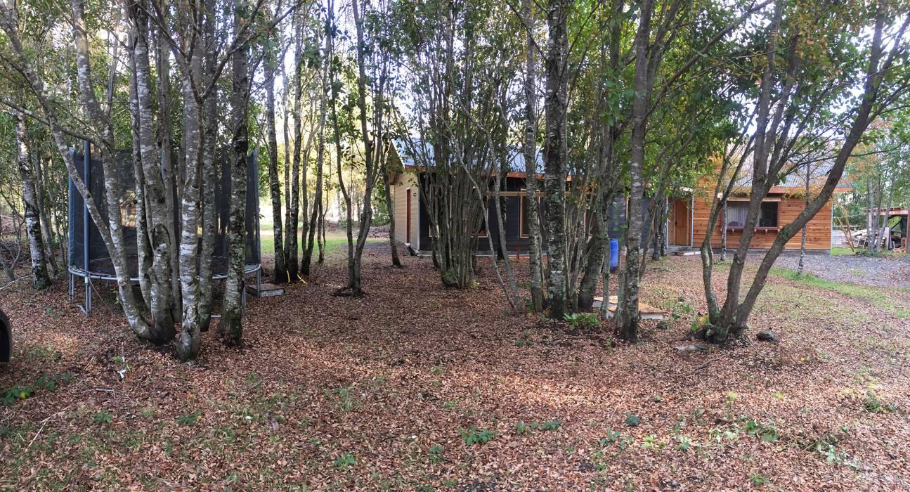 Casa vista frontal Constructora Rukalihuen Parcelas de agrado Madera Acabado en madera