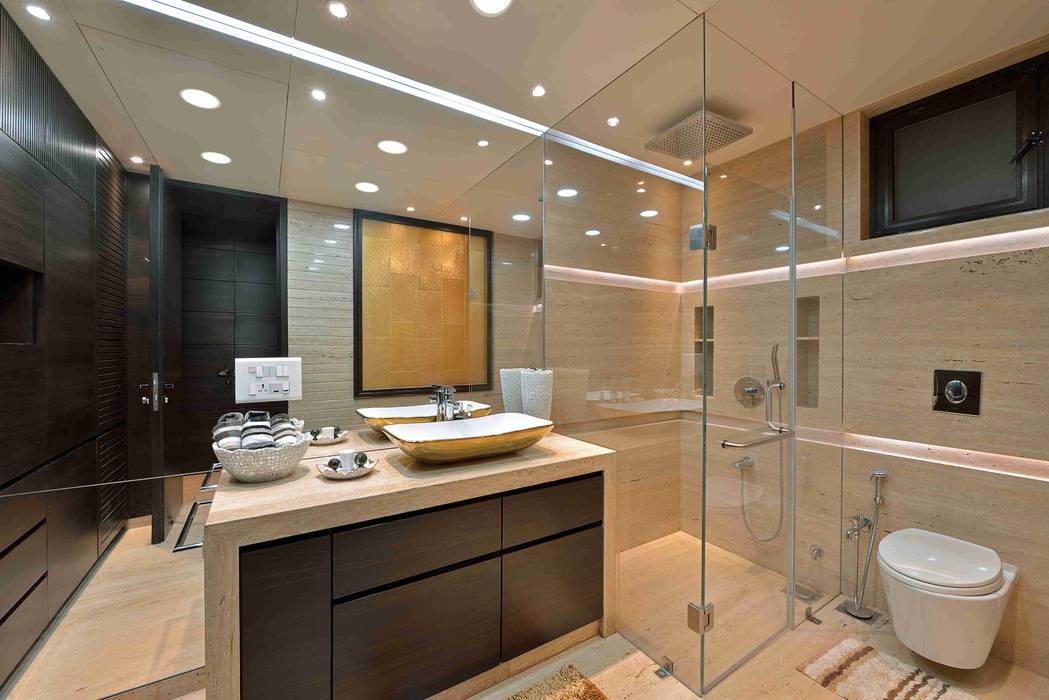 MADHUNIKETAN 10TH FLOOR:  Bathroom by smstudio,Modern