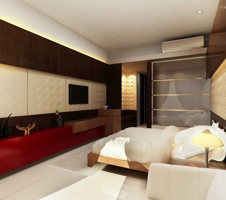 HOTEL AT MUNDRA Modern style bedroom by smstudio Modern