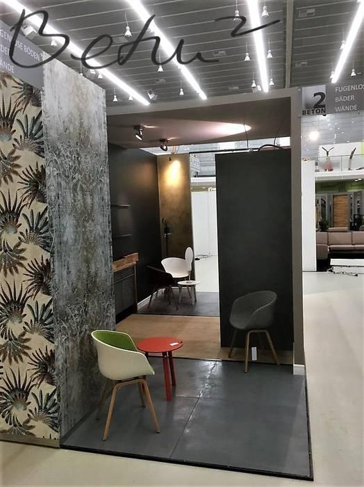 Betonoptik Wände: moderne Arbeitszimmer von BETON2