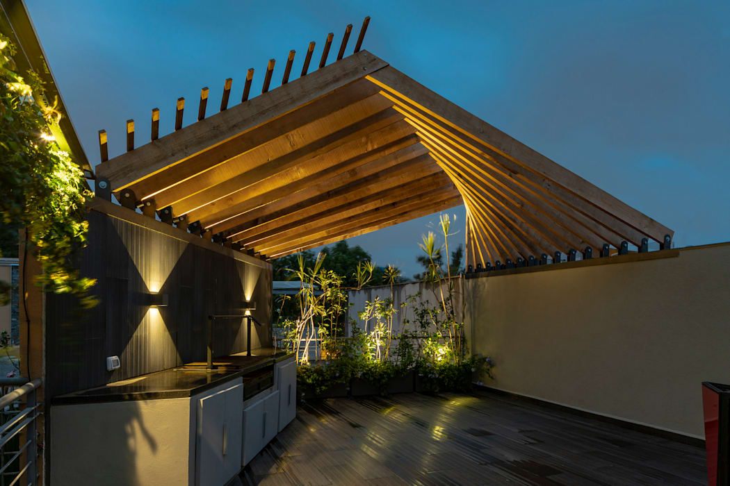 Modern Terrace by homify Modern Solid Wood Multicolored