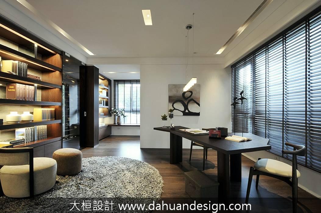 大桓設計-室內設計-極上之墅:  書房/辦公室 by 大桓設計顧問有限公司