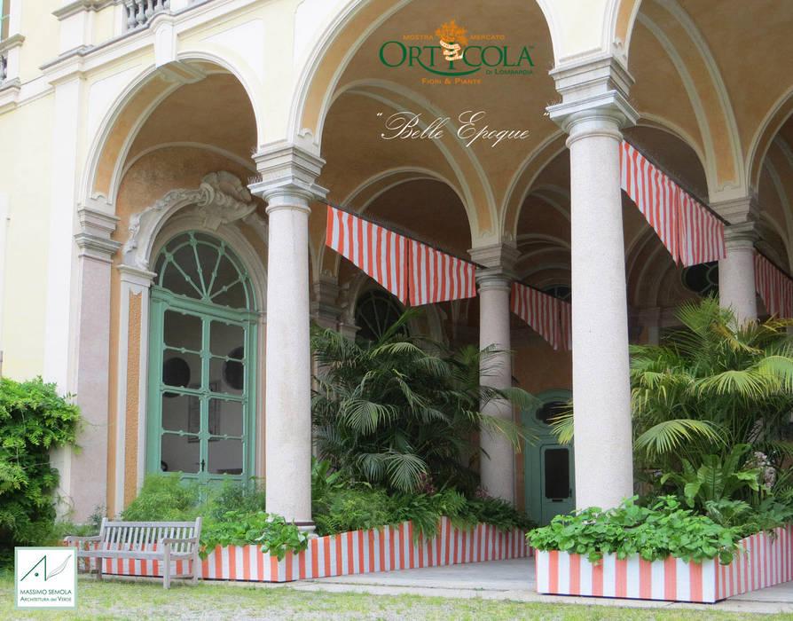 Belle Epoque: Giardino d'inverno in stile  di MASSIMO SEMOLA PROGETTAZIONE GIARDINI MILANO
