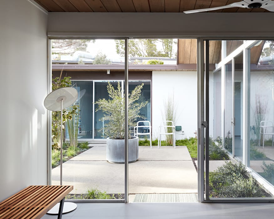 Burlingame Eichler Remodel Klopf Architecture:  Houses by Klopf Architecture
