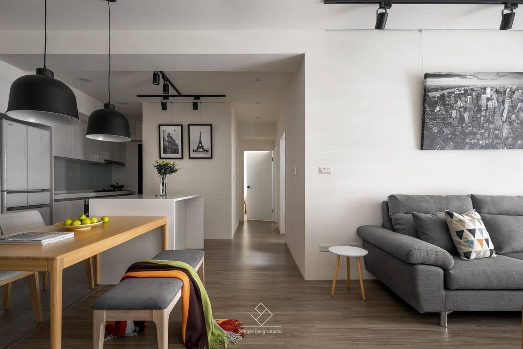 公共空間:  餐廳 by 極簡室內設計 Simple Design Studio