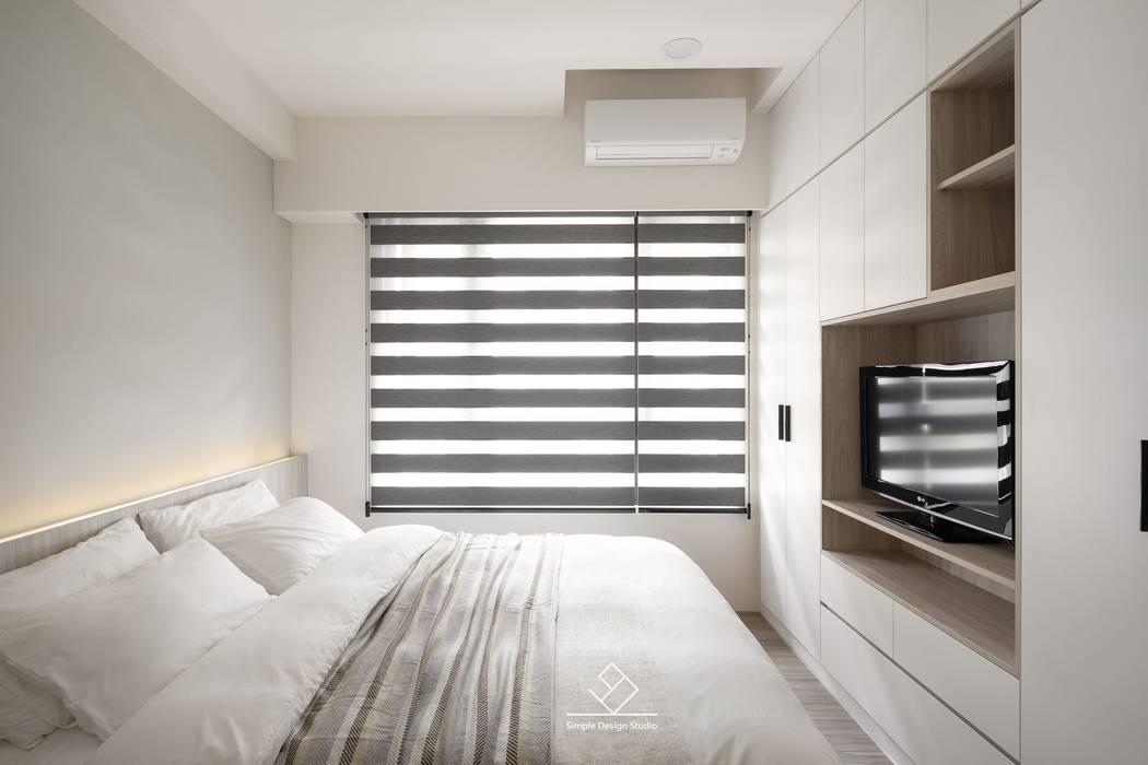主臥:  臥室 by 極簡室內設計 Simple Design Studio