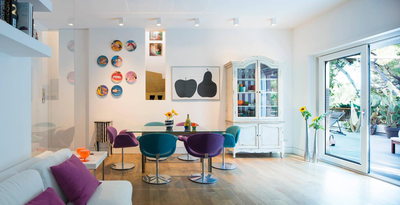Mia House Sala da pranzo moderna di Arabella Rocca Architettura e Design Moderno