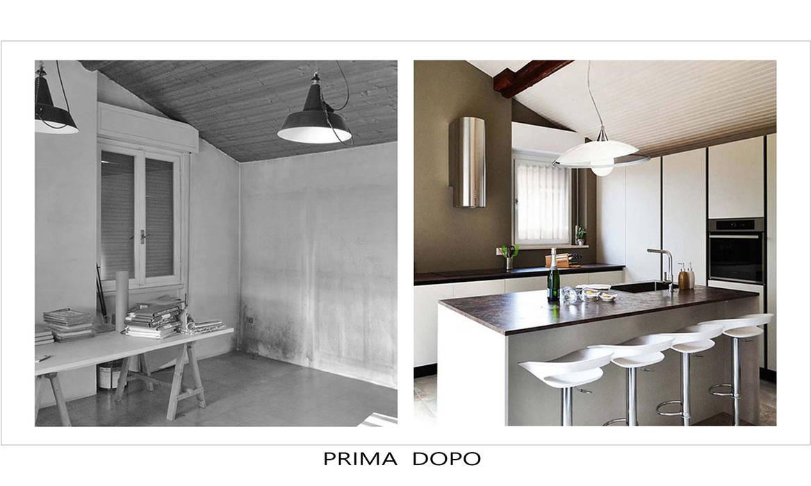 Ristrutturazione: Cucina attrezzata in stile  di Alessandri Architetti