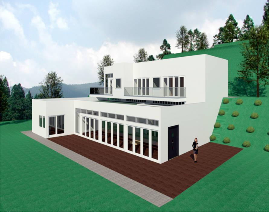 VU - 4 - VIVIENDA RESIDENCIAL UNIFAMILIAR : Casas de estilo  por RR Arquitecto