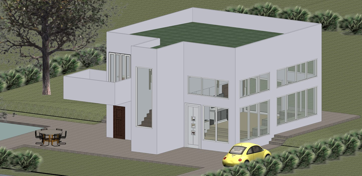 VU – 6 – VIVIENDA RESIDENCIAL UNIFAMILIAR Casas modernas de RR Arquitecto Moderno