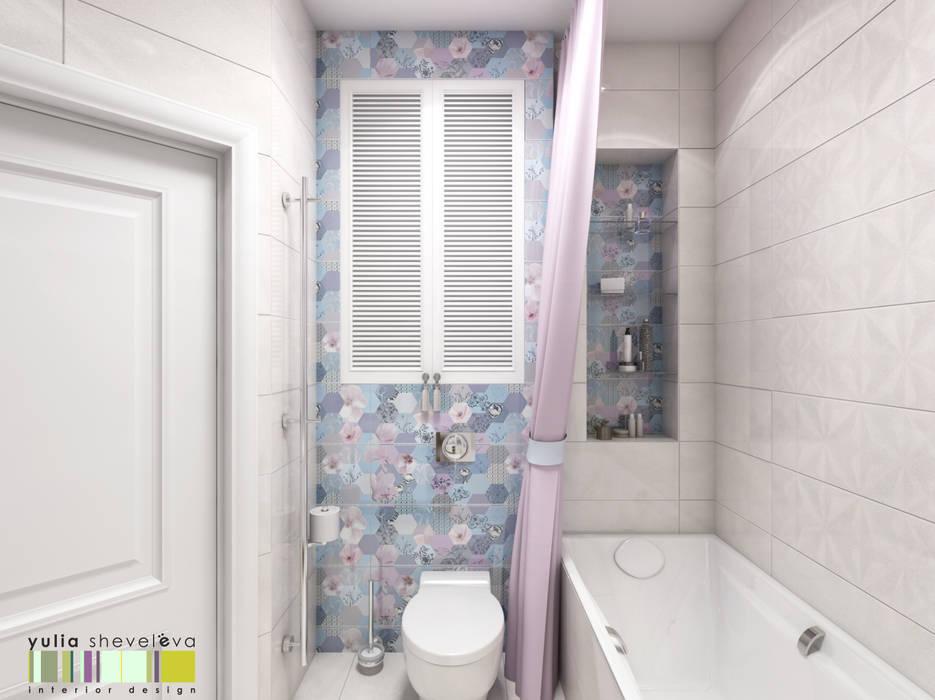 Утро в Марселе: Ванные комнаты в . Автор – Мастерская интерьера Юлии Шевелевой