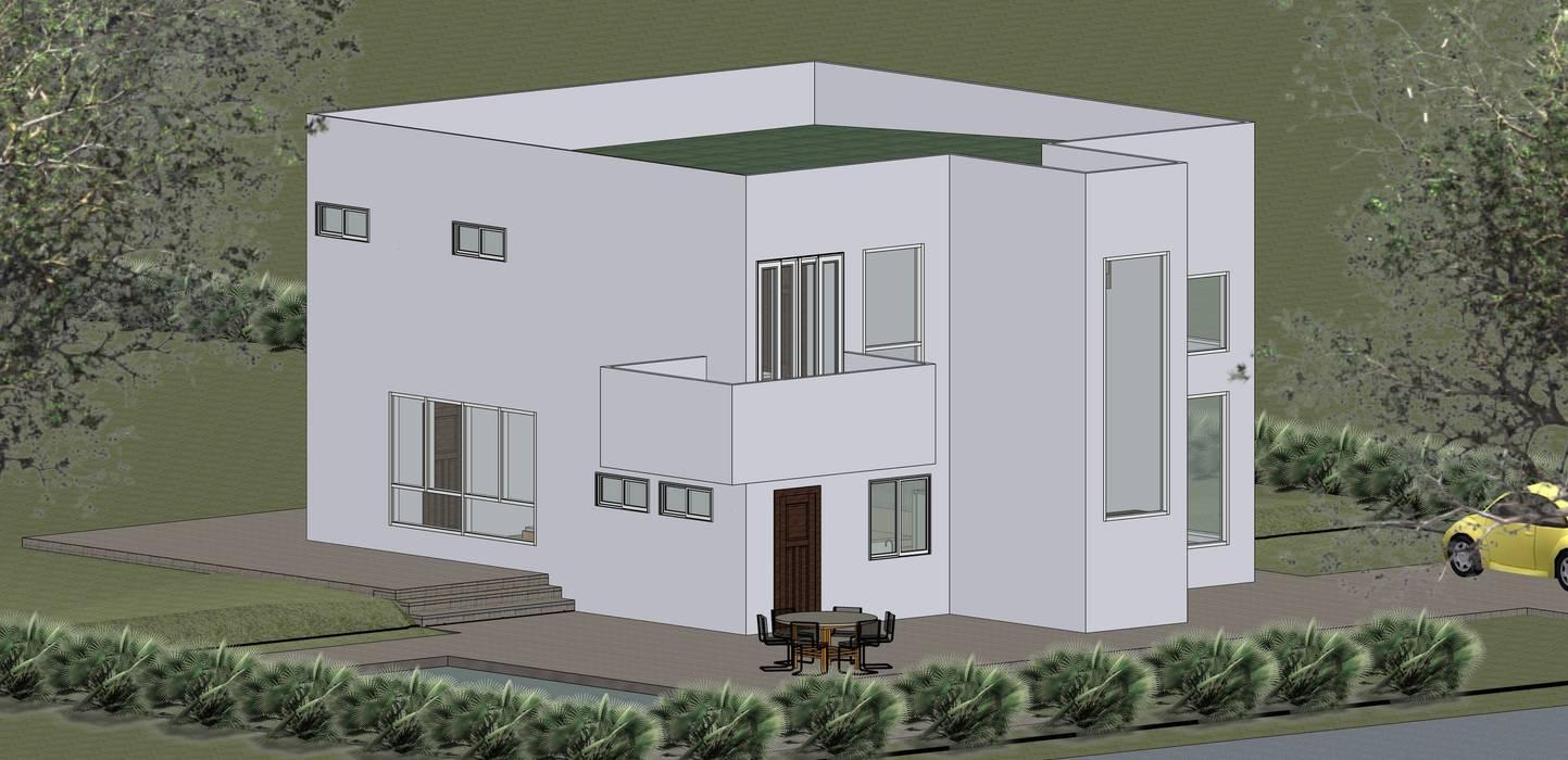 VU – 6 – VIVIENDA RESIDENCIAL UNIFAMILIAR: Casas de estilo  por RR Arquitecto