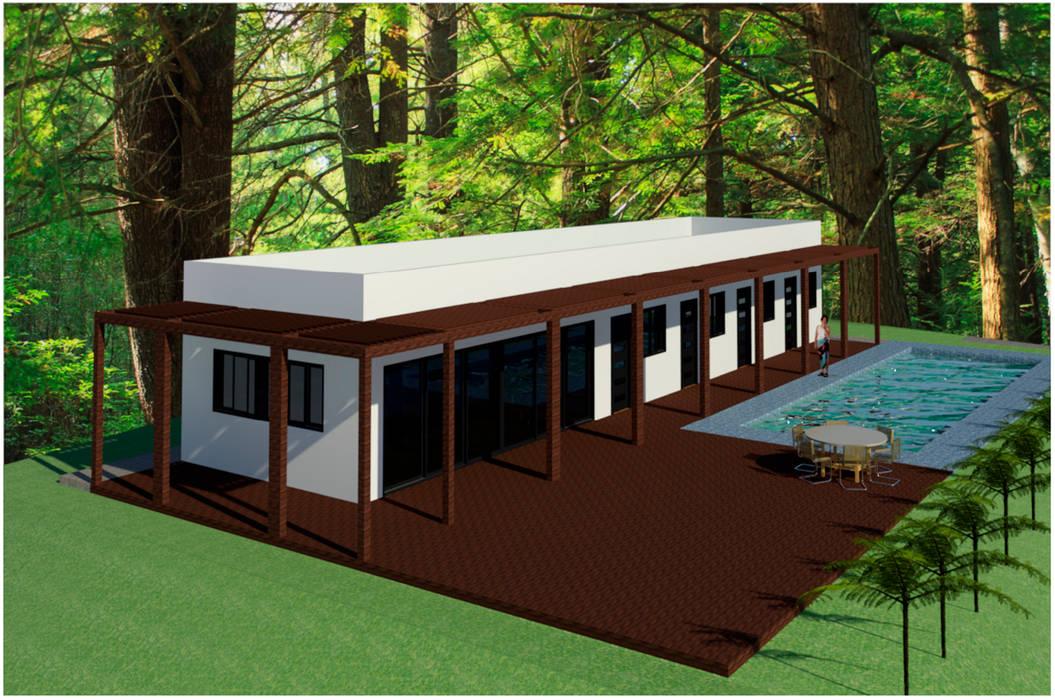 C – 2 – POSADA TURISTICA: Casas de estilo  por RR Arquitecto, Moderno